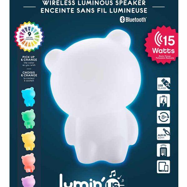 Enceinte sans fil lumineuse Lumin'us (ours) BTLSBEAR BIGBEN