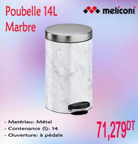 Poubelle marbre 14l meliconi